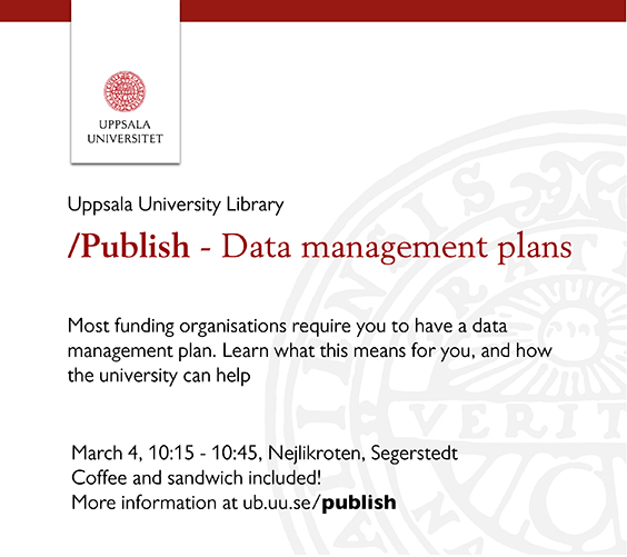 /publish - Data management plans